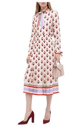 Женская замшевые туфли LE SILLA бордового цвета, арт. 2905R090R3PPVEL | Фото 2