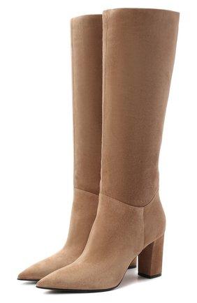 Женские замшевые сапоги LE SILLA бежевого цвета, арт. 2911R080R3PPP0W | Фото 1