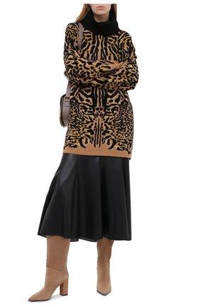 Женские замшевые сапоги LE SILLA бежевого цвета, арт. 2911R080R3PPP0W | Фото 2