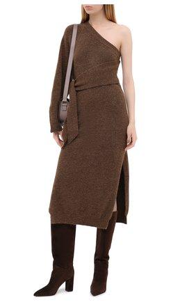 Женские замшевые сапоги LE SILLA темно-коричневого цвета, арт. 2911R080R3XLP0W | Фото 2