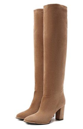 Женские замшевые сапоги LE SILLA бежевого цвета, арт. 7070R080R3XLP0W | Фото 1