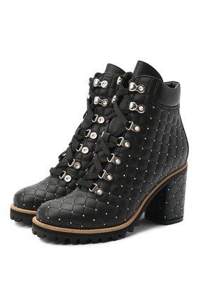 Женские кожаные ботильоны LE SILLA черного цвета, арт. 7499M080M1MMCHI | Фото 1