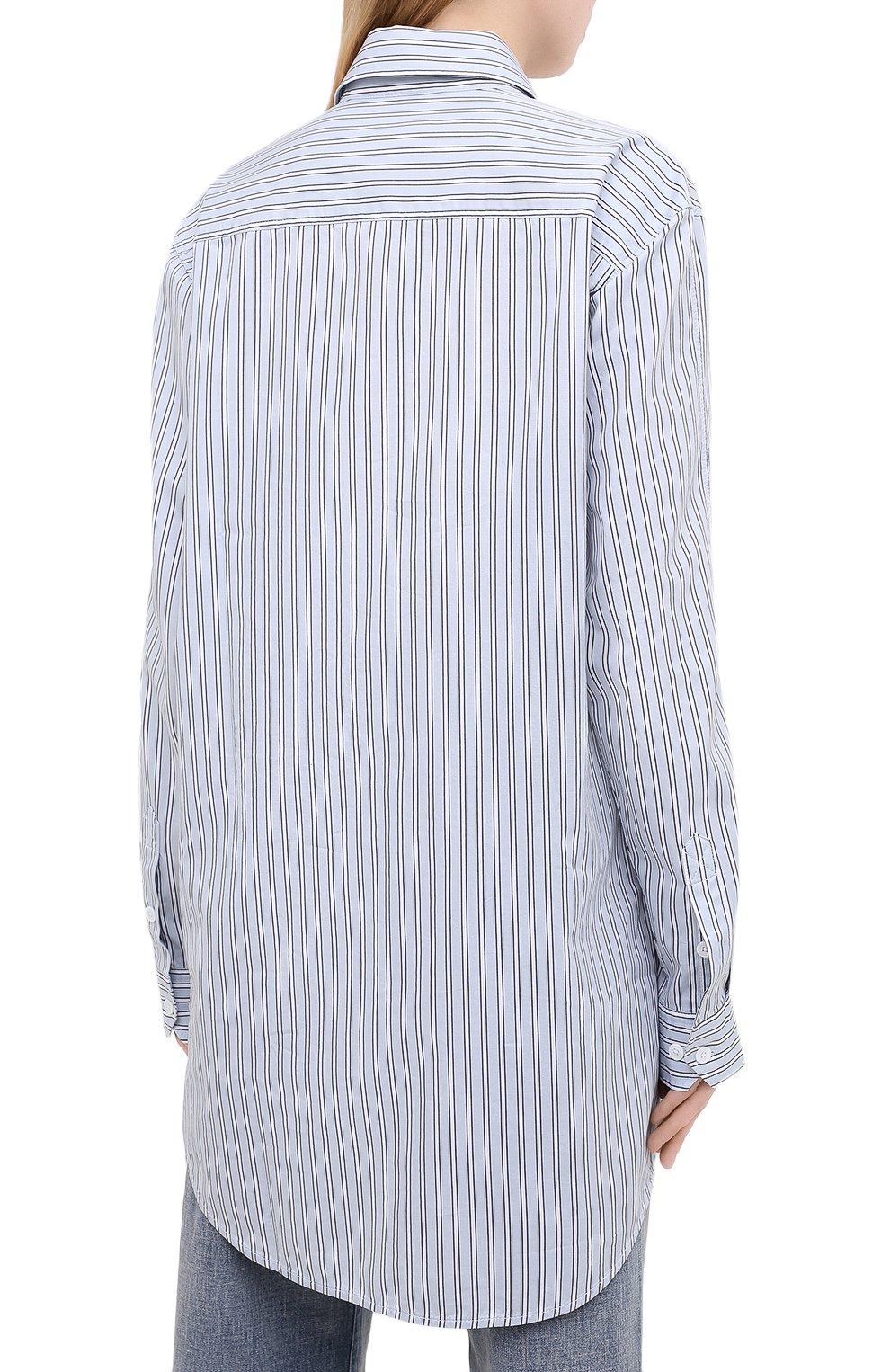Женская хлопковая рубашка ZADIG&VOLTAIRE голубого цвета, арт. WJCC0401F | Фото 4