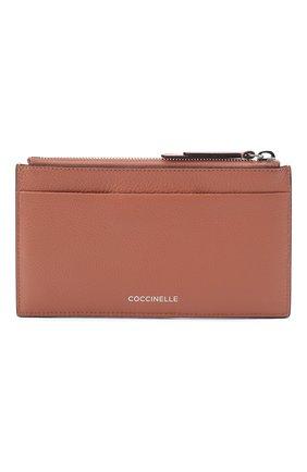 Женский кожаный футляр для кредитных карт COCCINELLE бежевого цвета, арт. E5 GV1 19 D1 07 | Фото 1