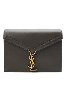 Женская сумка cassandra medium SAINT LAURENT темно-серого цвета, арт. 532750/B0W0W | Фото 1 (Материал: Натуральная кожа; Сумки-технические: Сумки через плечо; Ремень/цепочка: На ремешке; Размер: medium)