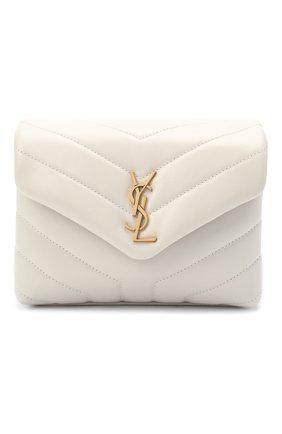 Женская сумка loulou mini SAINT LAURENT белого цвета, арт. 630951/DV707 | Фото 1