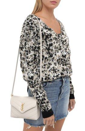 Женская сумка loulou mini SAINT LAURENT белого цвета, арт. 630951/DV707 | Фото 2