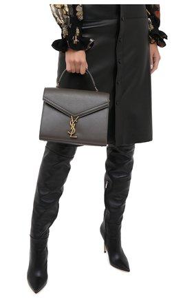 Женская сумка cassandra SAINT LAURENT темно-серого цвета, арт. 623931/B0W0W | Фото 2