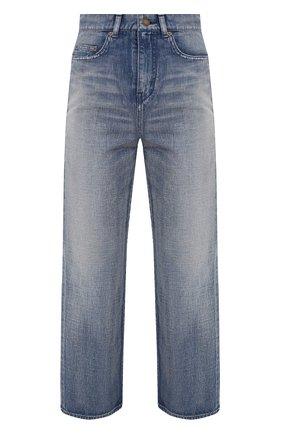 Женские джинсы SAINT LAURENT голубого цвета, арт. 635024/Y00WA | Фото 1