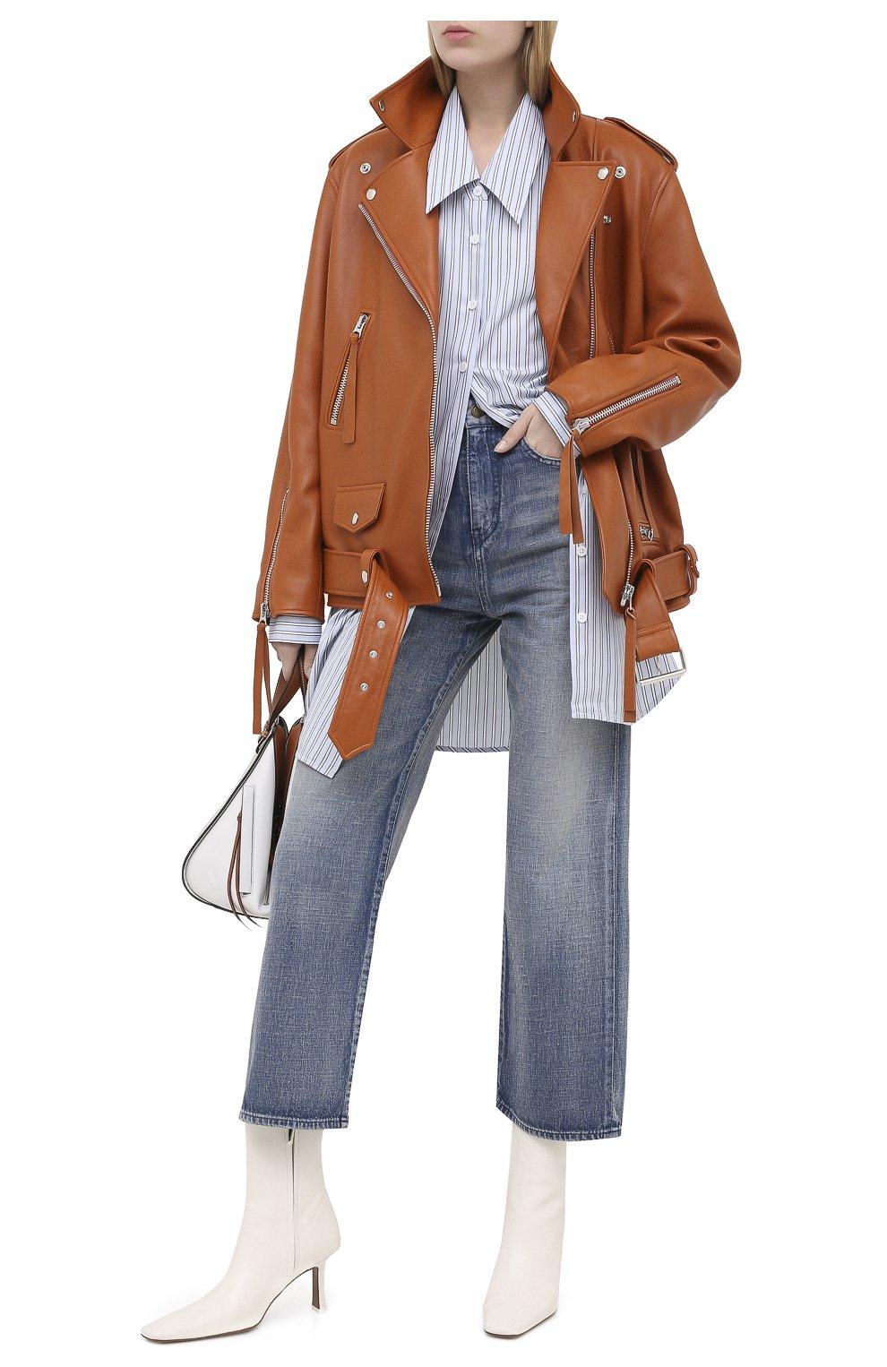 Женские джинсы SAINT LAURENT голубого цвета, арт. 635024/Y00WA | Фото 2
