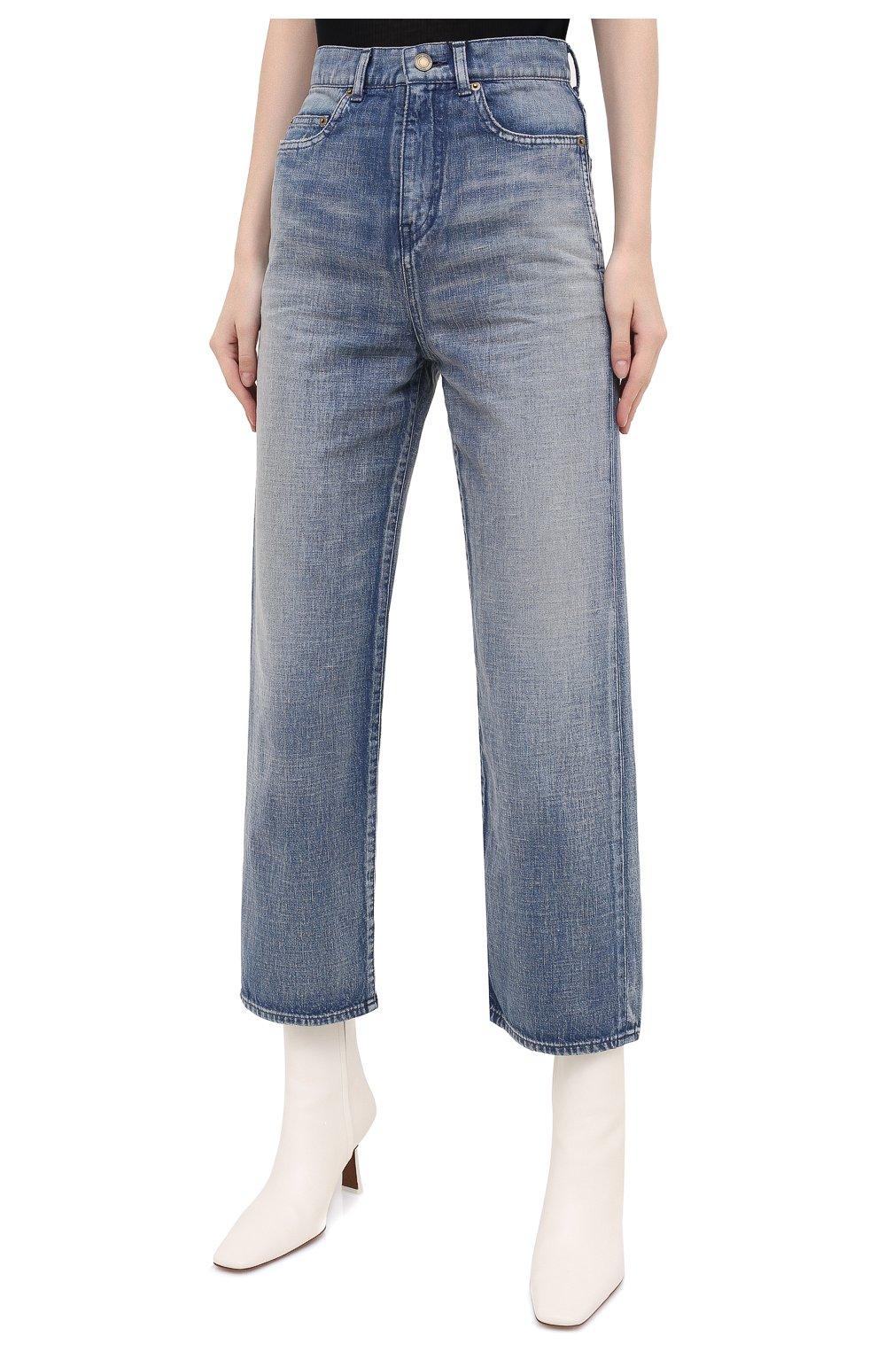 Женские джинсы SAINT LAURENT голубого цвета, арт. 635024/Y00WA | Фото 3