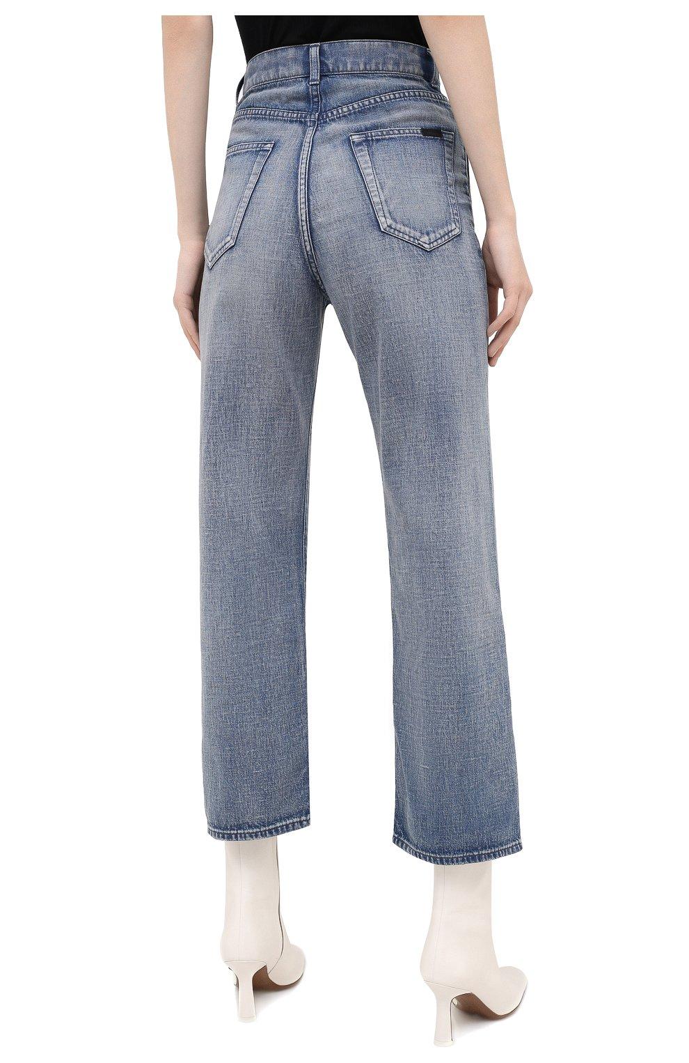 Женские джинсы SAINT LAURENT голубого цвета, арт. 635024/Y00WA | Фото 4