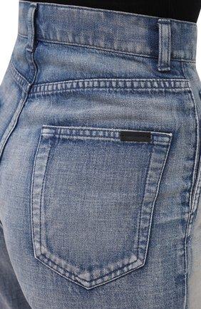 Женские джинсы SAINT LAURENT голубого цвета, арт. 635024/Y00WA | Фото 5