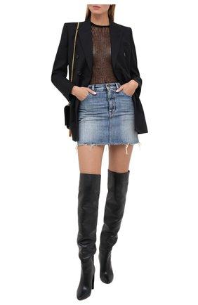 Женская джинсовая юбка SAINT LAURENT синего цвета, арт. 633048/Y996K | Фото 2