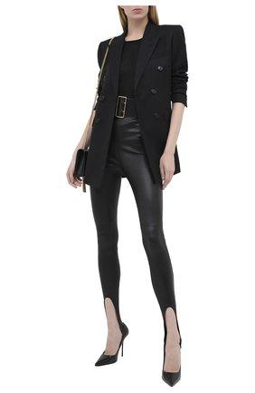 Женский шерстяной жакет SAINT LAURENT черного цвета, арт. 632886/Y1B46 | Фото 2