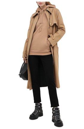Женская хлопковое худи SAINT LAURENT бежевого цвета, арт. 632408/YBQZ2 | Фото 2