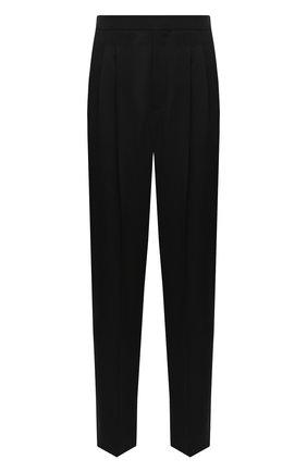Женские шерстяные брюки SAINT LAURENT черного цвета, арт. 631970/Y512W | Фото 1