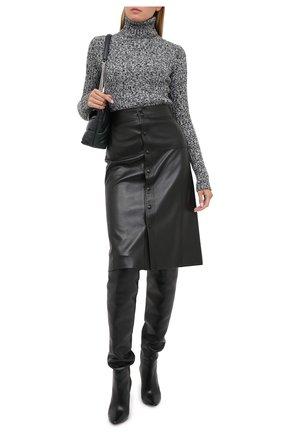 Женская шерстяной свитер SAINT LAURENT черного цвета, арт. 631042/YAR02 | Фото 2