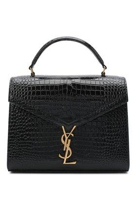 Женская кожаная сумка cassandra medium SAINT LAURENT черного цвета, арт. 623931/DND0J | Фото 1