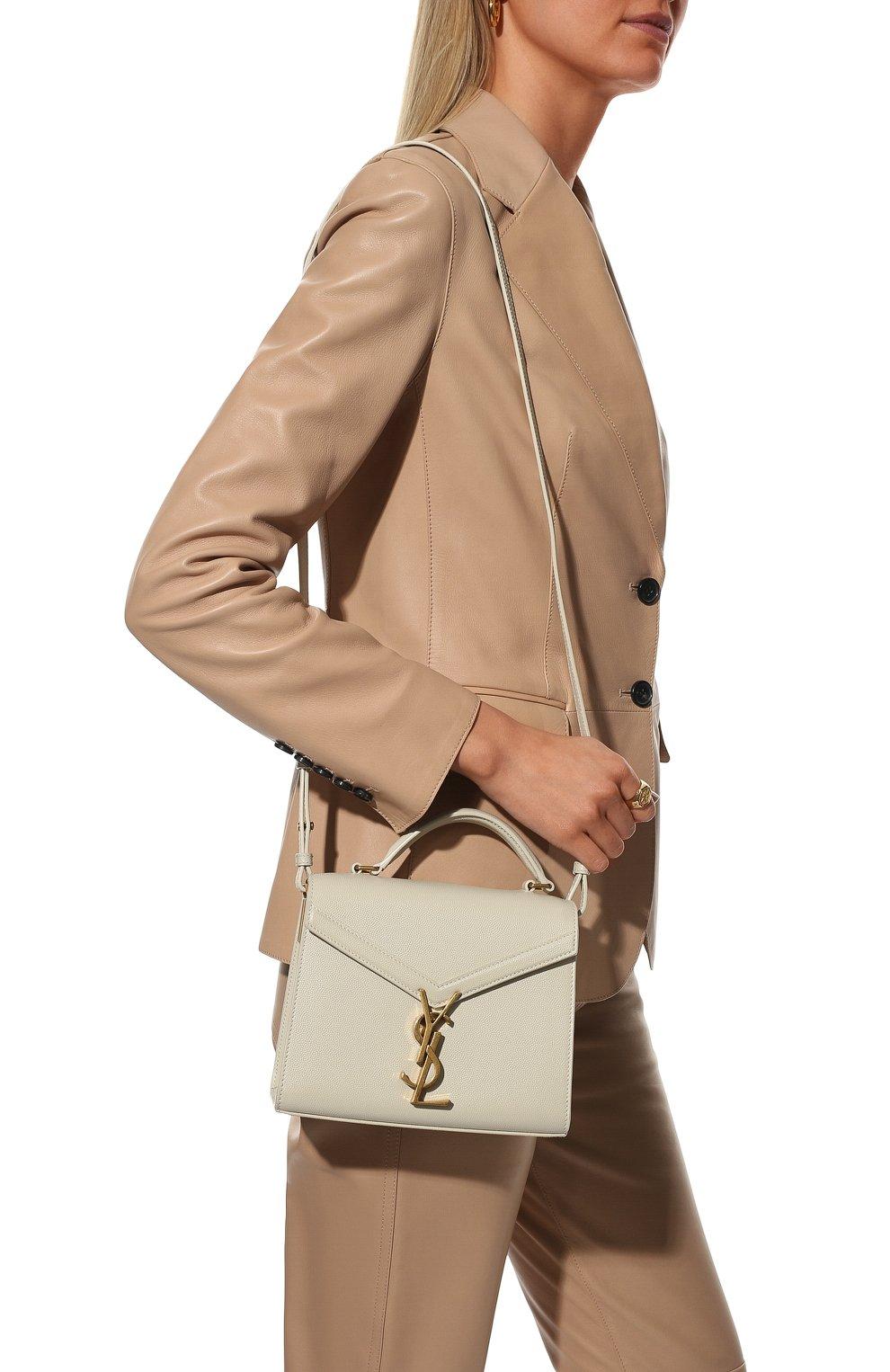 Женская кожаная сумка cassandra mini SAINT LAURENT белого цвета, арт. 623930/B0W0W | Фото 2