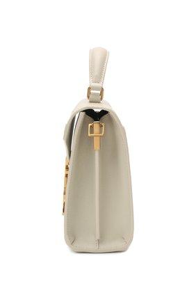 Женская кожаная сумка cassandra mini SAINT LAURENT белого цвета, арт. 623930/B0W0W | Фото 4
