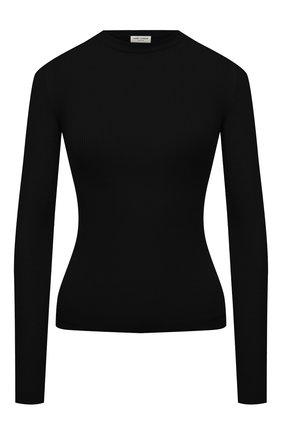 Женская пуловер SAINT LAURENT черного цвета, арт. 617962/YAPK2 | Фото 1