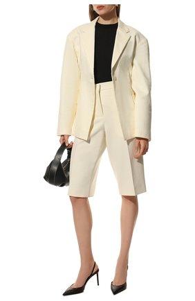 Женская пуловер SAINT LAURENT черного цвета, арт. 617962/YAPK2 | Фото 2