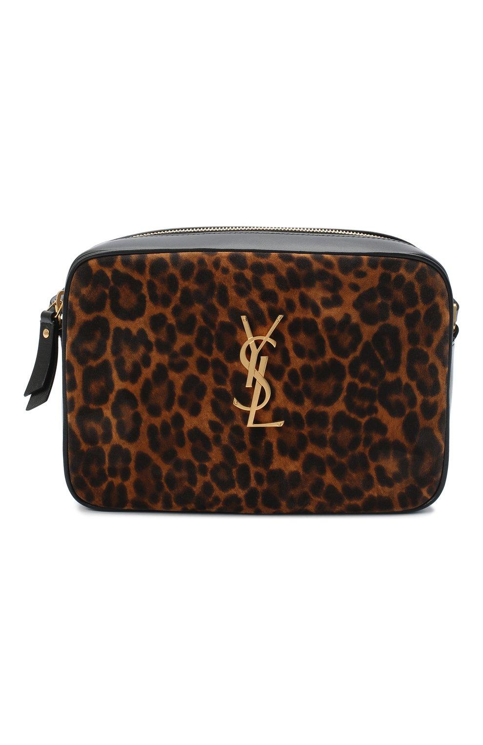 Женская кожаная сумка lou medium SAINT LAURENT леопардового цвета, арт. 612542/1Q12M   Фото 1