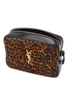Женская кожаная сумка lou medium SAINT LAURENT леопардового цвета, арт. 612542/1Q12M   Фото 4