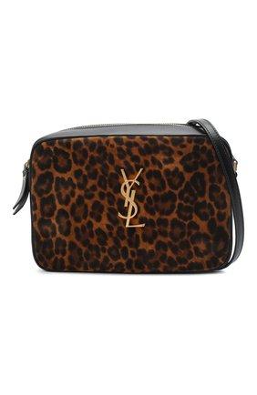 Женская кожаная сумка lou medium SAINT LAURENT леопардового цвета, арт. 612542/1Q12M   Фото 5