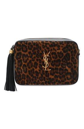 Женская кожаная сумка lou medium SAINT LAURENT леопардового цвета, арт. 612542/1Q12M   Фото 6