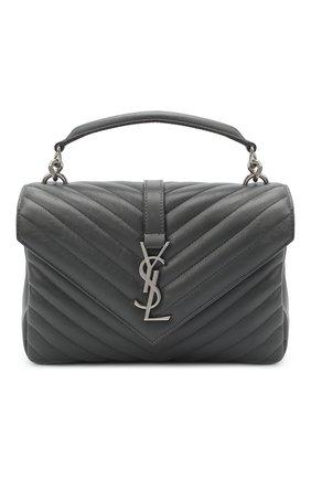 Женская кожаная сумка college medium SAINT LAURENT темно-серого цвета, арт. 600279/1UQ06 | Фото 1