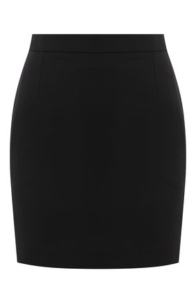 Женская шерстяная юбка SAINT LAURENT черного цвета, арт. 580279/Y404W | Фото 1 (Длина Ж (юбки, платья, шорты): Мини; Материал внешний: Шерсть; Материал подклада: Шелк; Женское Кросс-КТ: Юбка-одежда)