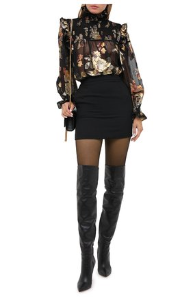 Женская шерстяная юбка SAINT LAURENT черного цвета, арт. 580279/Y404W | Фото 2