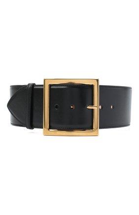 Женский кожаный ремень ALEXANDER MCQUEEN черного цвета, арт. 632126/1BR0M   Фото 1