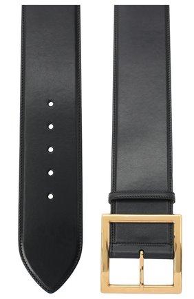 Женский кожаный ремень ALEXANDER MCQUEEN черного цвета, арт. 632126/1BR0M   Фото 2