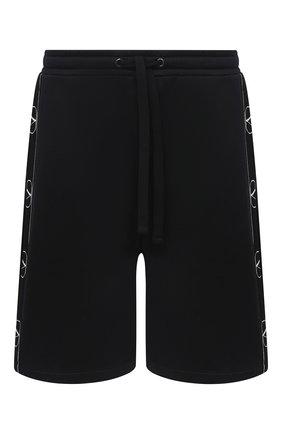 Мужские хлопковые шорты VALENTINO черного цвета, арт. UV3MD02I6M8 | Фото 1