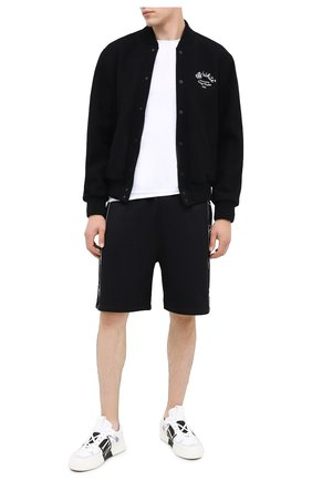 Мужские хлопковые шорты VALENTINO черного цвета, арт. UV3MD02I6M8 | Фото 2