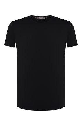 Мужская шерстяная футболка LORO PIANA темно-синего цвета, арт. FAF6689 | Фото 1