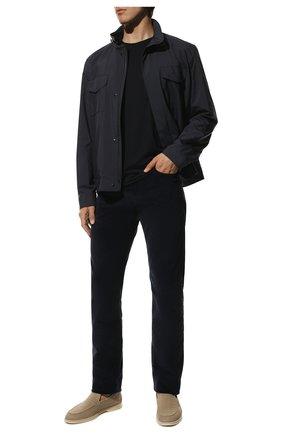 Мужская шерстяная футболка LORO PIANA темно-синего цвета, арт. FAF6689 | Фото 2