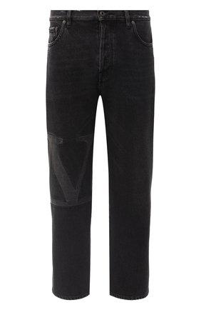 Мужские джинсы VALENTINO черного цвета, арт. UV3DE01Y6H4 | Фото 1