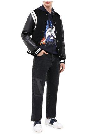 Мужские джинсы VALENTINO черного цвета, арт. UV3DE01Y6H4 | Фото 2