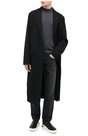 Мужские кожаные слипоны BALLY черного цвета, арт. M0SIS-I/00 | Фото 2