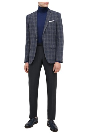 Мужской кожаные дерби MORESCHI темно-синего цвета, арт. 43554/162/B0RG0GNA/F.NAPPA | Фото 2