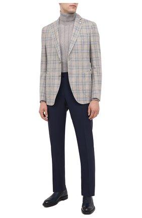 Мужские кожаные оксфорды MORESCHI темно-синего цвета, арт. 43557/SD/B0RG0GNA/F.NAPPA | Фото 2