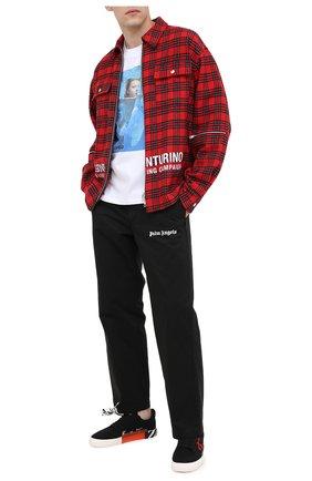 Мужская хлопковая футболка DIEGO VENTURINO белого цвета, арт. FW20-DV TS GTN | Фото 2