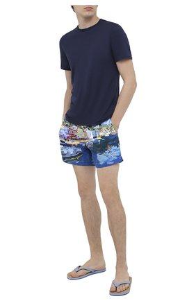 Мужская хлопковая футболка FEDELI темно-синего цвета, арт. 3UID0113 | Фото 2