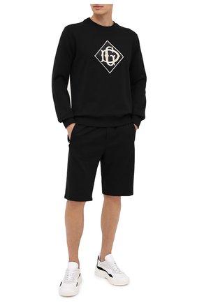 Мужские хлопковые шорты DOLCE & GABBANA черного цвета, арт. GYUTEZ/G7TWG | Фото 2