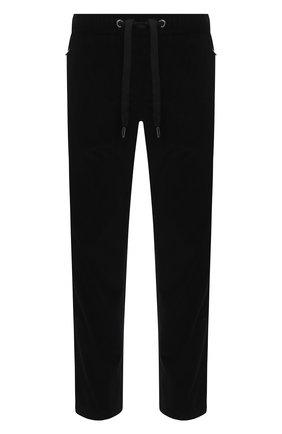 Мужской хлопковые брюки DOLCE & GABBANA черного цвета, арт. GYU6ET/FUVB2 | Фото 1