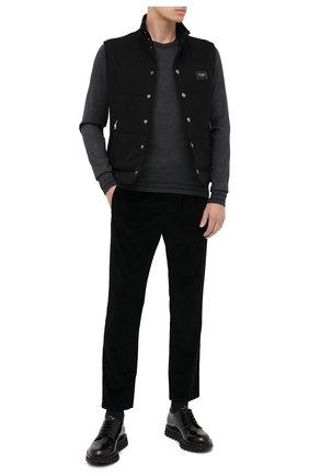 Мужской хлопковые брюки DOLCE & GABBANA черного цвета, арт. GYU6ET/FUVB2 | Фото 2